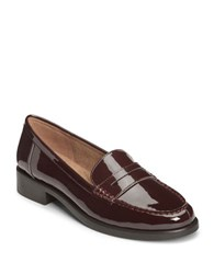 Aerosoles Main Dish Patent Leather Penny Loafers Merlot