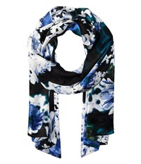 Vince Camuto Falling Florals Pine Needle Scarves Brown