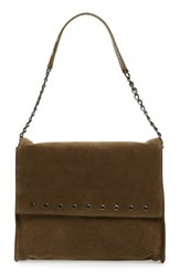 Longchamp 'Paris Rocks' Nubuck Shoulder Bag