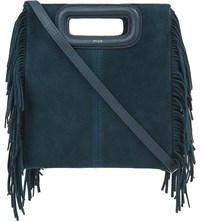 Maje The M Suede Cross Body Bag Canard