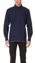 Naked And Famous Indigo Button Down Shirt Indigo Selvedge