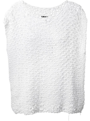 Mm6 Maison Margiela Open Knit Top White