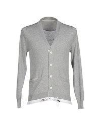 Sacai Knitwear Cardigans Men Light Grey