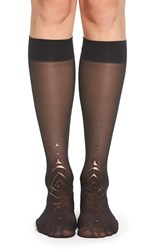 Women's Stance 'Craze' Metallic Pattern Sheer Knee High Socks