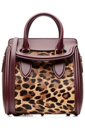 Alexander Mcqueen Heroine Mini Leather And Pony Hair Tote Multicolor