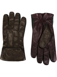 Etro Leather Gloves Pink And Purple