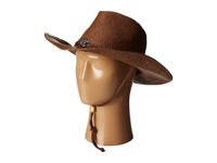 San Diego Hat Company Pbc1030 Woven Paper Straw Cowboy W Chin Cord And Metal Trim Brown Traditional Hats