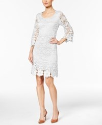 Alfani Petite Crochet Shift Dress Only At Macy's Bright White
