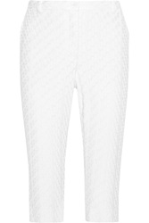 Missoni Cropped Crochet Knit Straight Leg Pants