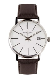 Simon Carter Stainless Steel Watch Brown