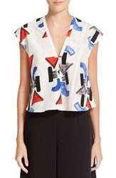 Rachel Comey Women's 'Boone' Cotton And Silk Crop Top