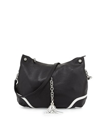 Charles Jourdan Vienna Leather Crossbody Bag Black White