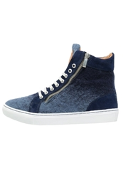 Boom Bap Celebration Hightop Trainers Navy Blue