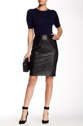 Insight Ponte And Faux Leather Skirt Black