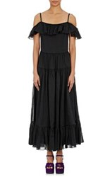 Saint Laurent Women's Peasant Maxi Dress Black Size 38 Fr