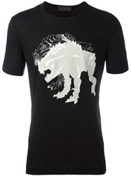 Diesel Black Gold Monster Print T Shirt Black