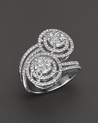 Bloomingdale's Diamond Oval Statement Ring In 14K White Gold 1.30 Ct. T.W.