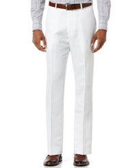 Perry Ellis Big And Tall Linen Blend Pants Bright White