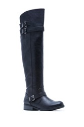 Qupid Plateau Tall Shaft Boot Black