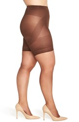 Plus Size Women's Berkshire 'Booster' Ultra Sheer Pantyhose French Coffee
