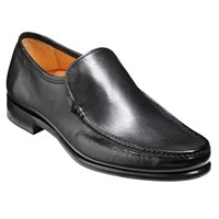 Barker Torquay Leather Moccasin Shoes Black