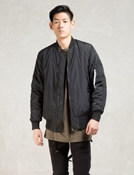 Black Strapped Bomber Jacket