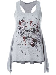 Alexander Mcqueen 'Treasure' Tank Top Grey