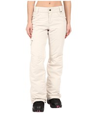 686 Authentic Patron Insulated Pants Ivory Herringbone Women's Casual Pants White