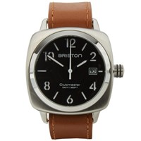 Briston Clubmaster Hms Watch Silver Black And Brown
