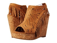 Not Rated Fringe Delight Tan Women's Wedge Shoes