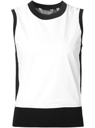 Reed Krakoff Contrasting Collar Tank Top White