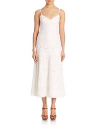 Polo Ralph Lauren Eyelet Fit And Flare Dress White