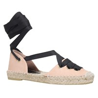 Kurt Geiger Pine Tie Up Two Part Espadrilles Nude Leather