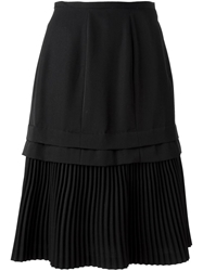 Comme Des Garcons Vintage Part Pleated Skirt Black