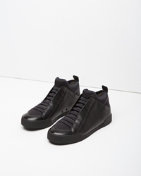 3.1 Phillip Lim Bi Color Morgan High Top Sneaker Black Navy
