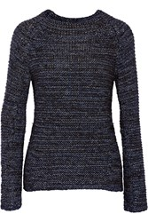 Maje Metallic Knitted Sweater Gray
