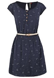 Ragwear Zephie Summer Dress Navy Dark Blue