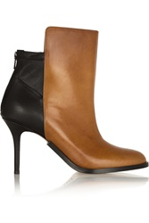 Maison Martin Margiela Two Tone Leather Ankle Boots Brown