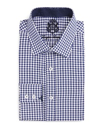 English Laundry Gingham Check Dress Shirt Navy