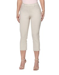 Rafaella Petites Petite Power Stretch Skinny Capri Leggings Stone