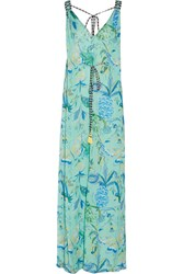 Matthew Williamson Printed Silk Georgette Gown Green