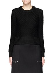 Neil Barrett Diamond Knit Wool Sweater Black