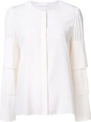 Co Tiered Sleeve Blouse White