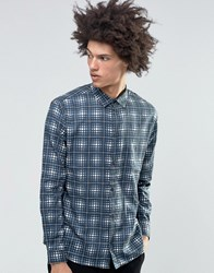 Weekday Frayed Check Shirt Blue Blue 79 202