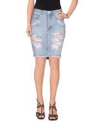 One Teaspoon Denim Denim Skirts Women Blue