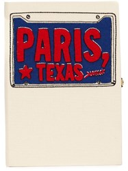 Olympia Le Tan 'Paris Texas' Book Clutch Nude And Neutrals