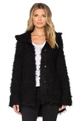 Atm Anthony Thomas Melillo Hooded Cozy Cardigan Black
