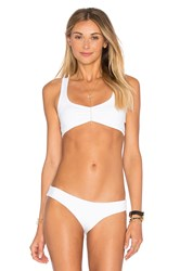 L Space Lively Cross Back Bikini Top White