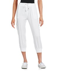 Marc New York Cargo Cropped Pants White