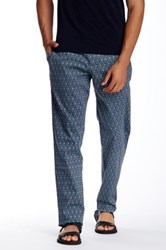 Parke And Ronen Medallion Print Lido Trouser Blue